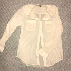 *3 for $30 Bundle* Solemio Sheer Ivory Button down